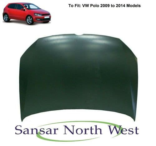 For VW Volkswagen Polo - Front Bonnet Panel - 2009 to 2014 Models